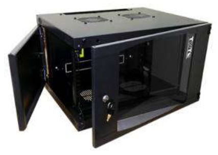 Шкаф коммутационный Lanmaster Next (TWT-CBWNG-6U-6X6-BK) 6U 550x600мм пер.дв.стекл 60кг черный