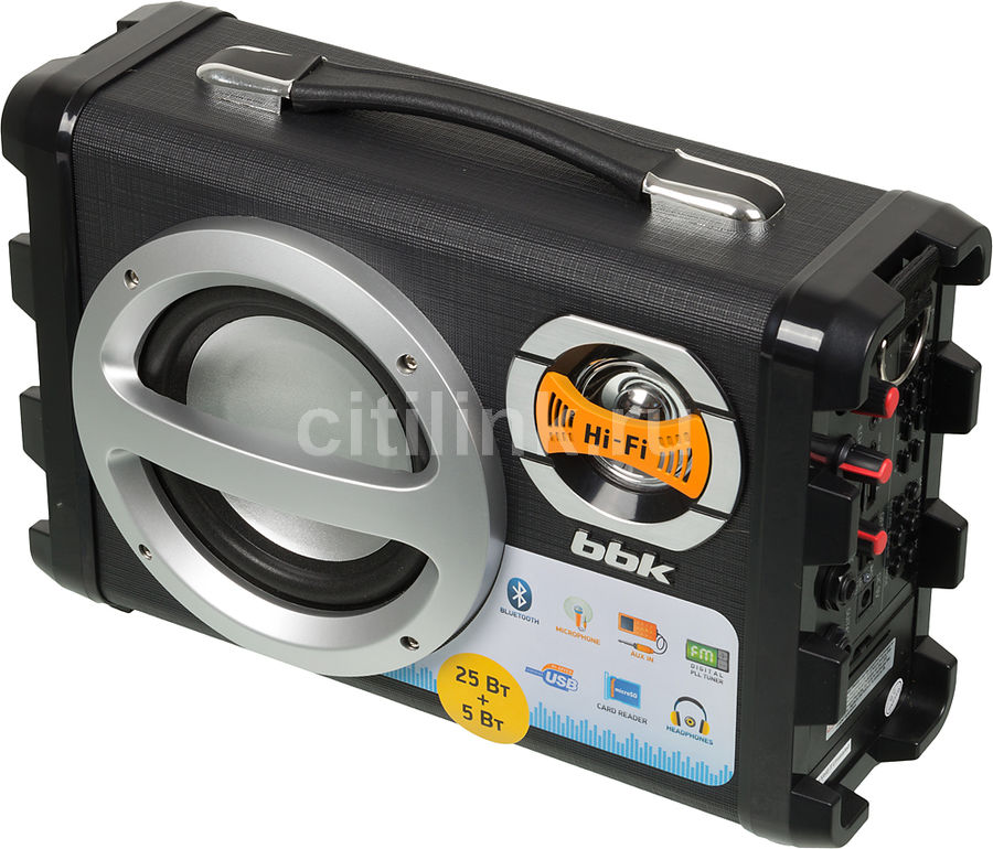 Аудиомагнитола BBK BS05BT,  черный