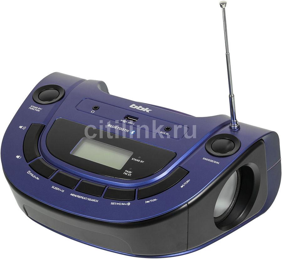 Аудиомагнитола BBK BS07BT,  синий