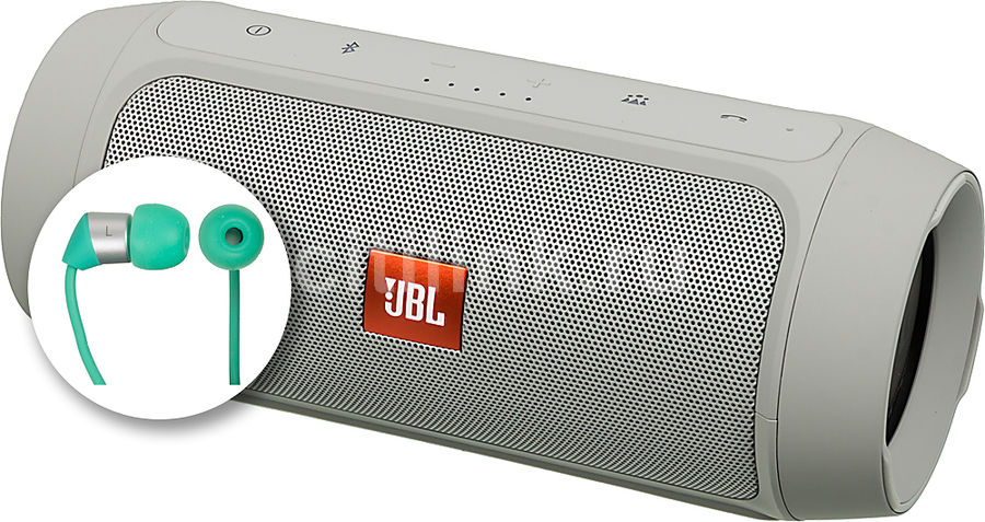����������� ������� JBL Charge 2 Plus + K323, �����, ������ [charge2plusgrayeu_k323]