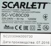 Пылесос SCARLETT SC-VC80C09, 1200Вт, зеленый/черный вид 10