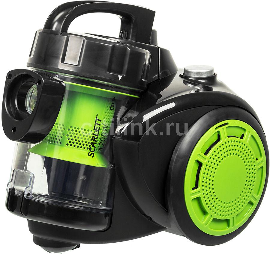 Пылесос SCARLETT SC-VC80C09, 1200Вт, зеленый/черный