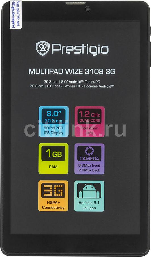 "Планшет Prestigio MultiPad Wize 3108 3G Atom x3-C3230-RK 4C/1Gb/8Gb 8"" IPS 1280x80 (отремонтированный)"
