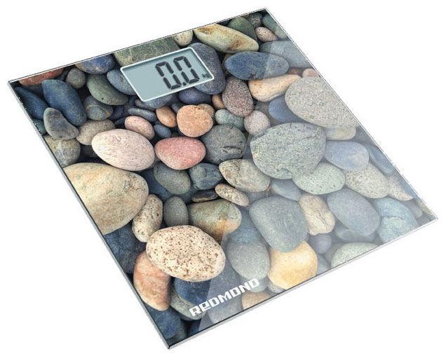 Напольные весы REDMOND RS-708, до 180кг, цвет: белый/камень [rs-708 (камни)]