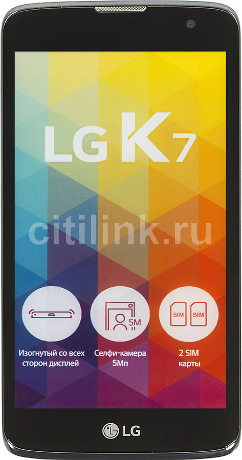 Смартфон LG K7 X210DS,  черный