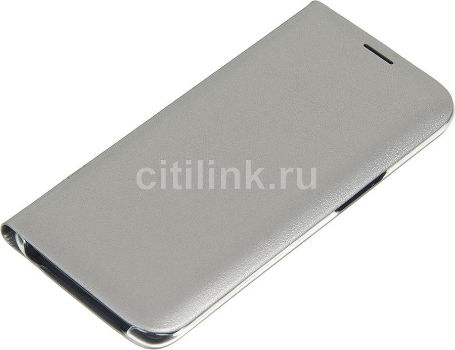 Чехол (флип-кейс) SAMSUNG LED View Cover, для Samsung Galaxy S7 edge, серебристый [ef-ng935psegru]