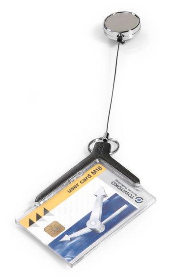 Держатель для пропуска Durable 8307-58 CARD HOLDER DELUXE PRO 54х85мм серый (упак.:10шт)