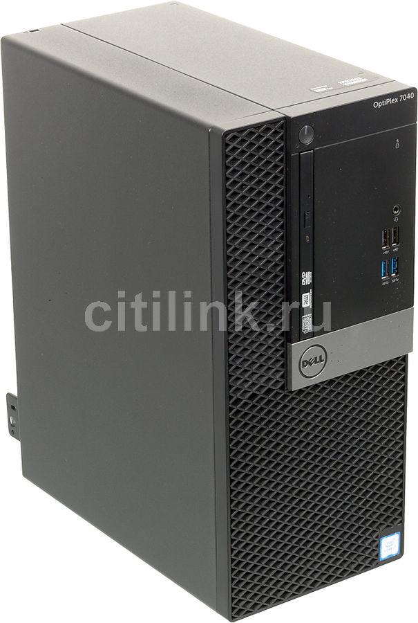 Компьютер  DELL Optiplex 5040,  Intel  Core i7  6700,  DDR3L 8Гб, 500Гб,  AMD Radeon R5 340X - 2048 Мб,  DVD-RW,  Windows 7 Professional,  черный и серебристый [5040-2617]
