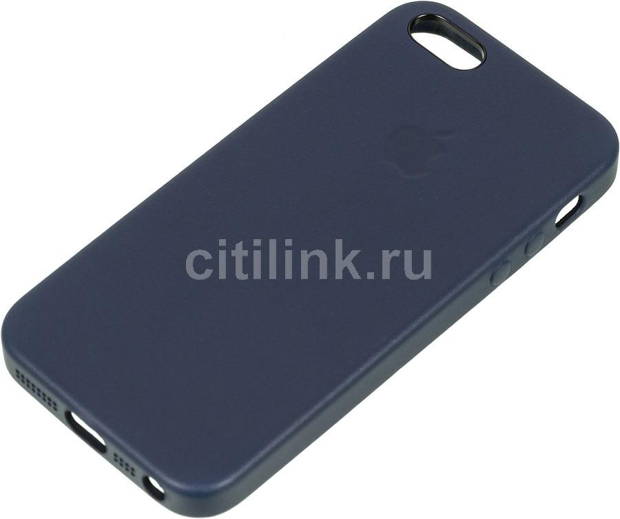 Чехол (клип-кейс) APPLE MMHG2ZM/A, для Apple iPhone 5/5s/SE, темно-синий