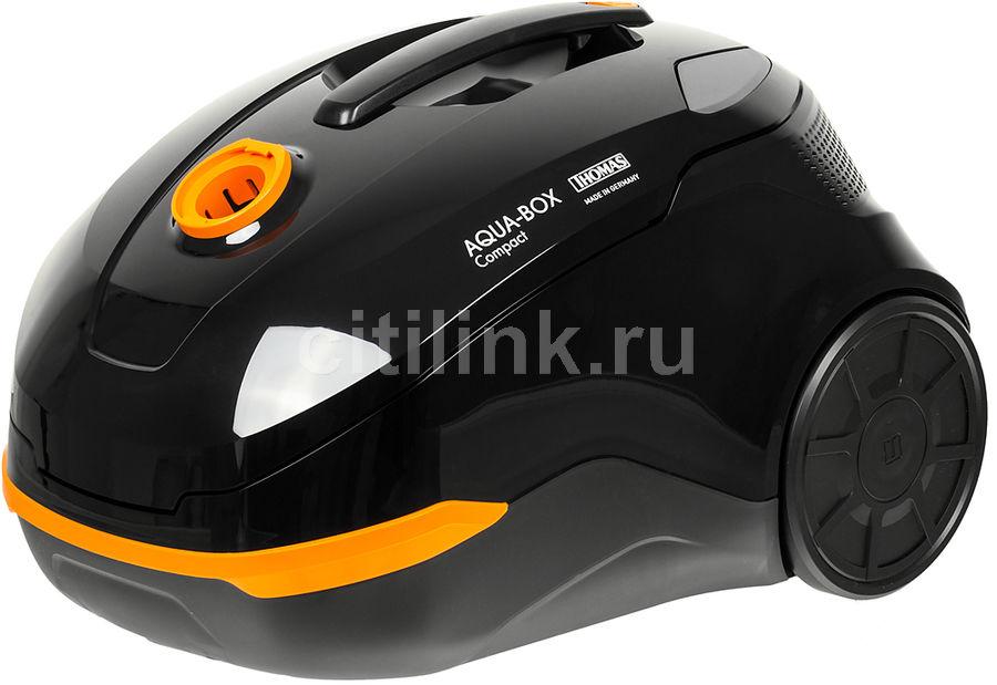 Пылесос THOMAS Aqua-Box Compact, 1600Вт, черный/оранжевый