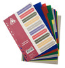 Разделитель индексный Бюрократ ID115 A4 пластик 10 индексов с бумажным оглавлением цветные разделы вид 2