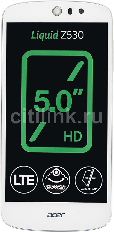 Смартфон Acer Z530 Liquid 8Gb белый моноблок 3G 4G 2Sim 5