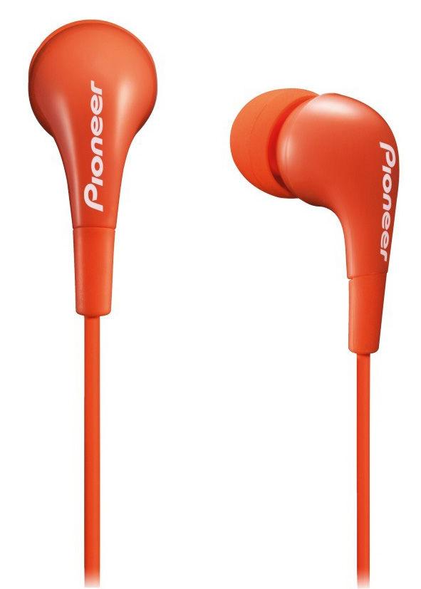 Наушники PIONEER SE-CL502-M, вкладыши,  оранжевый, проводные