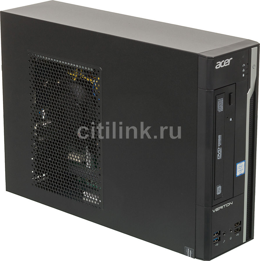 Компьютер  ACER Veriton X2640G,  Intel  Core i3  6100,  DDR4 4Гб, 500Гб,  Intel HD Graphics 530,  DVD-RW,  Free DOS,  черный и серебристый [dt.vmxer.006]