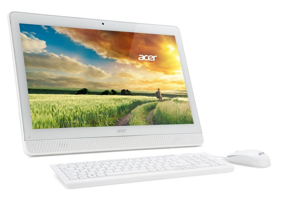 Моноблок ACER Aspire Z1-612, Intel Celeron J3060, 4Гб, 500Гб, Intel HD Graphics 400, DVD-RW, Windows 10 Professional, белый [dq.b4ger.003]
