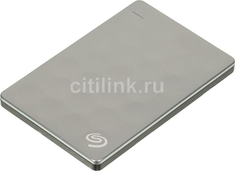 Внешний жесткий диск SEAGATE Ultra Slim STEH1000200, 1Тб, платиновый