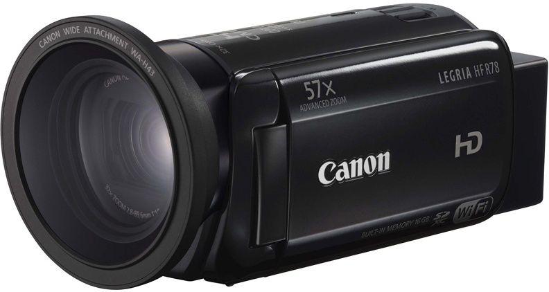 Видеокамера CANON Legria HF R78, черный,  Flash [1237c002]