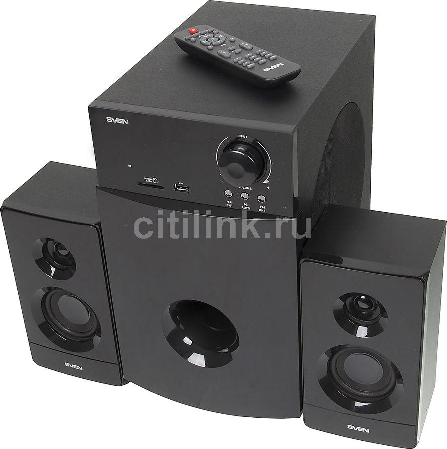 Колонки Sven MS-2100 2.1 черный 80Вт (отремонтированный)