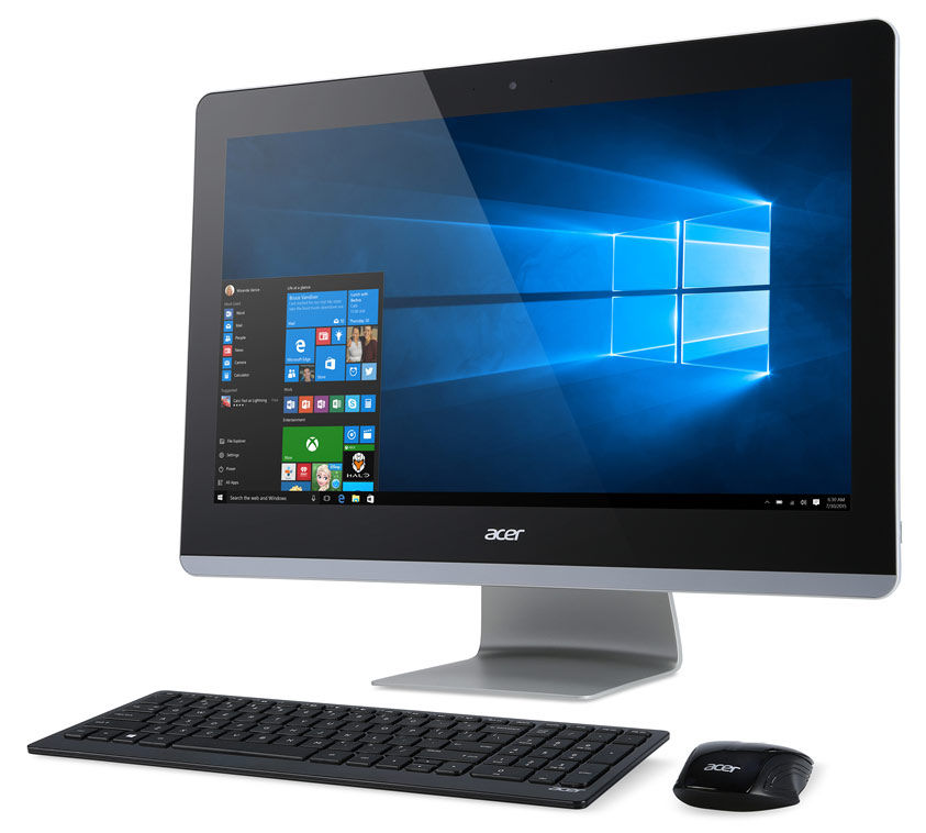 Моноблок ACER Aspire Z3-715, Intel Core i5 6400T, 4Гб, 1Тб, Intel HD Graphics 530, DVD-RW, Windows 10 Home, черный [dq.b30er.001]