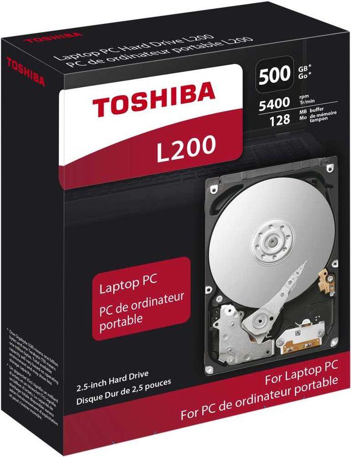 Жесткий диск TOSHIBA L200 HDWJ105EZSTA,  500Гб,  HDD,  SATA II,  2.5