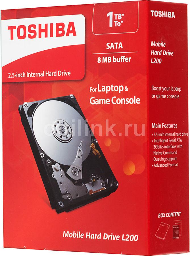 Жесткий диск TOSHIBA L200 HDWJ110EZSTA,  1Тб,  HDD,  SATA II,  2.5