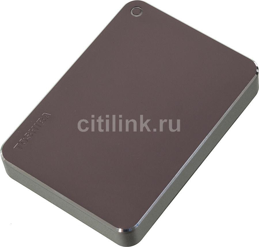 Внешний жесткий диск TOSHIBA Canvio Premium for Mac HDTW130EBMCA, 3Тб, темно-серый