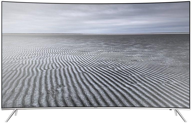 "LED телевизор SAMSUNG UE55KS7500UXRU  ""R"", 55"", Ultra HD 4K (2160p),  серебристый"