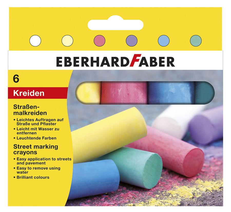 Мел цветной Faber-Castell 526506 асфальт. 6цв. (6шт)