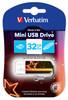 Флешка USB VERBATIM Mini Neon Edition 32Гб, USB2.0, оранжевый и рисунок [49388] вид 2