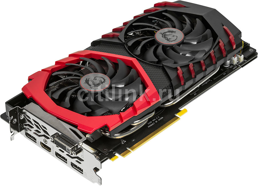 Видеокарта MSI nVidia  GeForce GTX 1080 ,  GeForce GTX 1080 GAMING X 8G,  8Гб, GDDR5X, OC,  Ret
