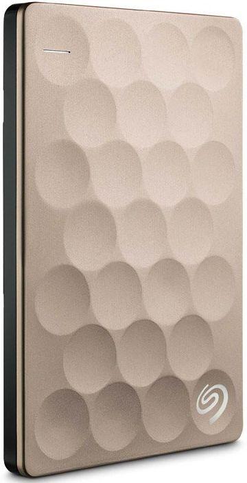 Внешний жесткий диск SEAGATE Ultra Slim STEH2000201, 2Тб, золотистый