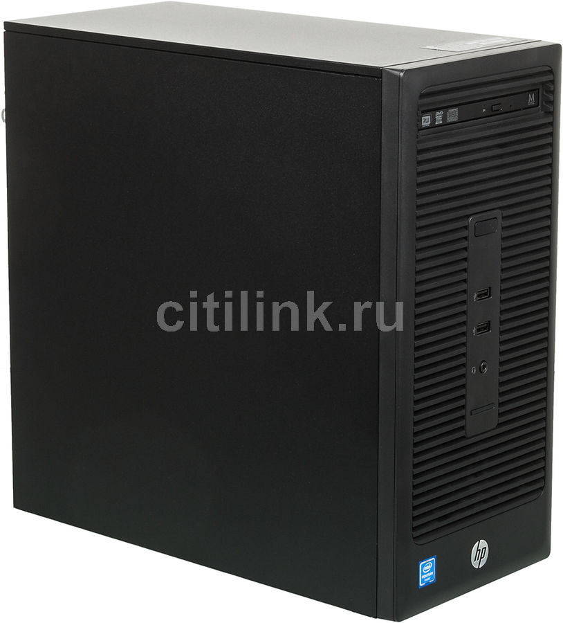 Компьютер  HP 280 G2,  Intel  Core i3  6100,  DDR4 4Гб, 128Гб(SSD),  Intel HD Graphics 530,  DVD-RW,  Windows 10 Professional,  черный [x3k66ea]