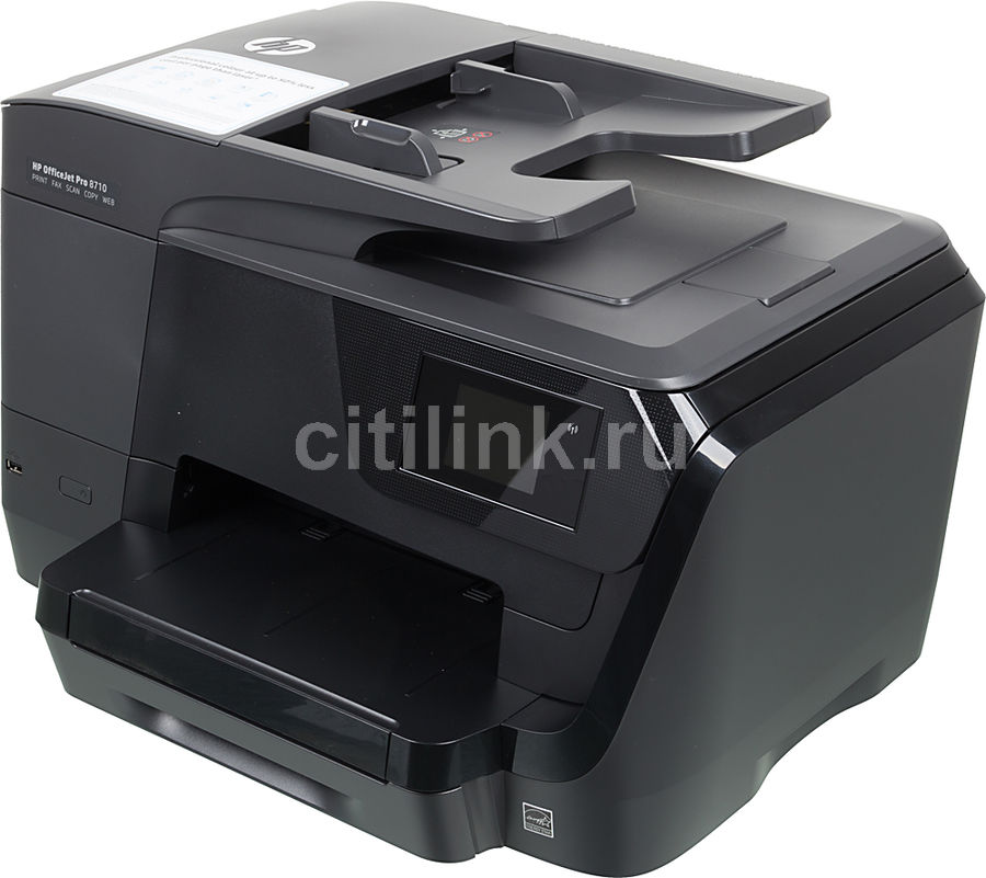 МФУ HP OfficeJet Pro 8710 e-AiO, A4, цветной, струйный, черный [d9l18a]