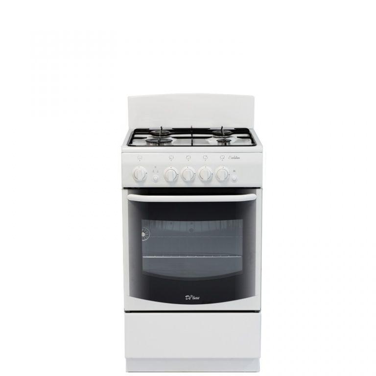 Газовая плита DE LUXE 5040.36г,  газовая духовка,  белый