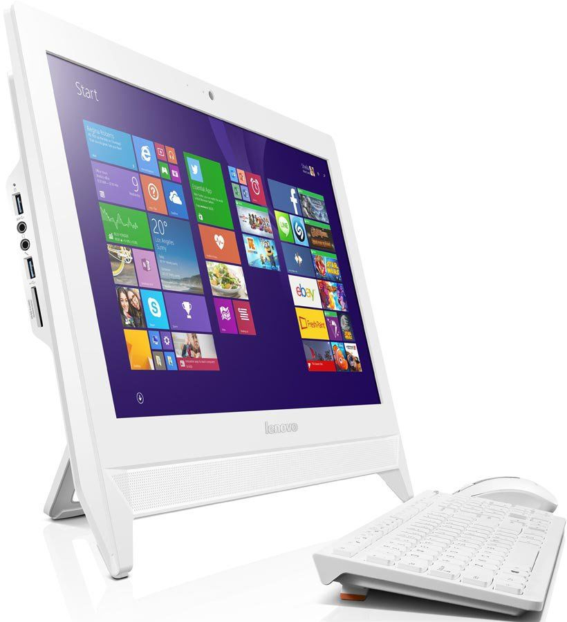 Моноблок LENOVO C20-00, Intel Pentium J3710, 4Гб, 500Гб, nVIDIA GeForce GT920A - 1024 Мб, DVD-RW, Windows 10, белый [f0bb00rlrk]