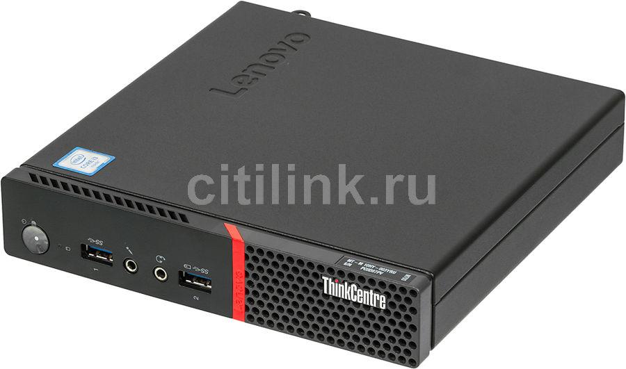 Компьютер  LENOVO ThinkCentre M700 TINY,  Intel  Core i3  6100T,  DDR4 4Гб, 128Гб(SSD),  Intel HD Graphics 530,  Free DOS,  черный [10hy003yru]