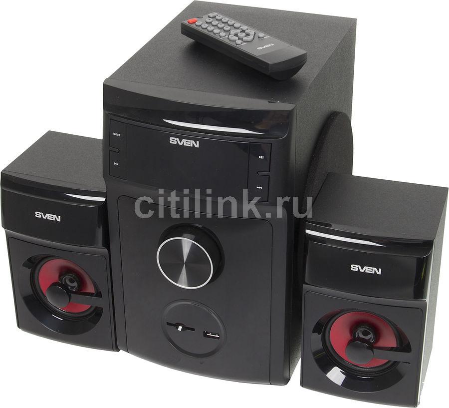 Колонки Sven MS-302 2.1 черный 40Вт (отремонтированный)