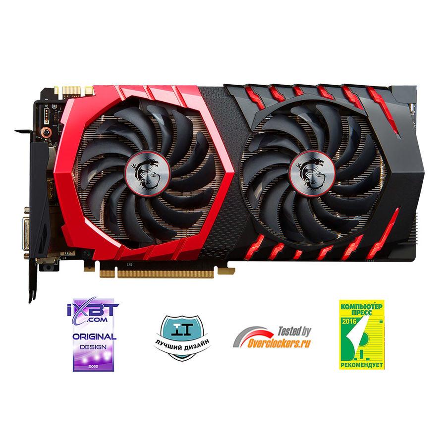 Видеокарта MSI GeForce GTX 1070,  GTX 1070 GAMING X 8G,  8Гб, GDDR5, OC,  Ret