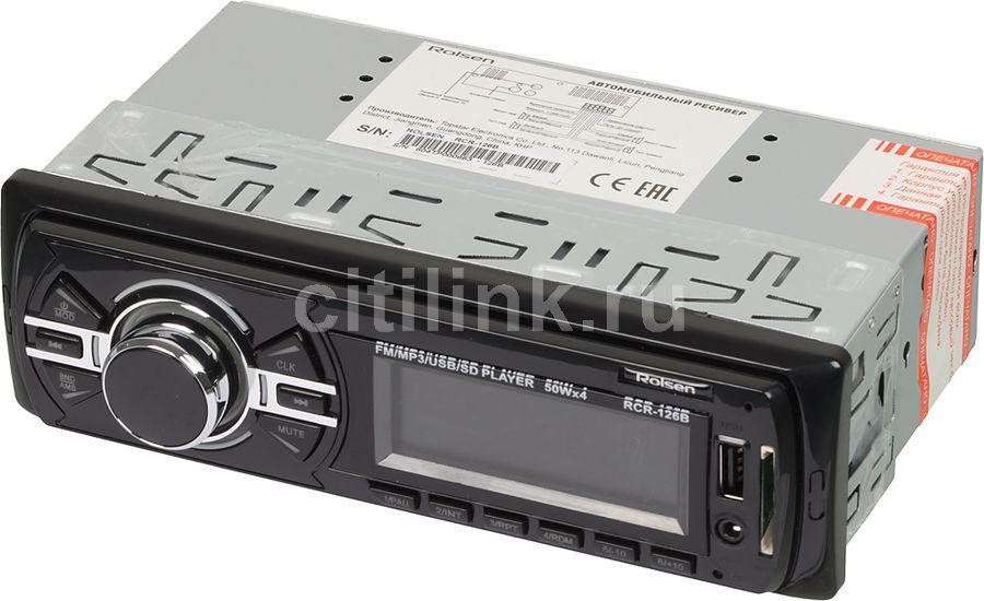 Автомагнитола ROLSEN RCR-126B,  USB,  SD/MMC