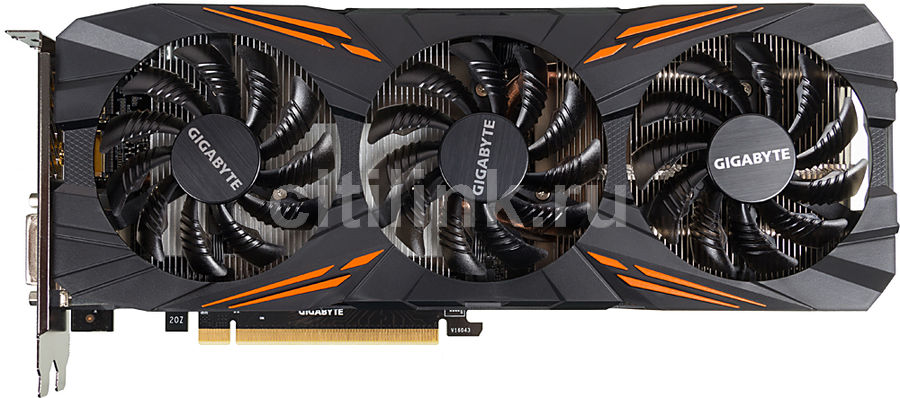 Видеокарта GIGABYTE nVidia  GeForce GTX 1070 ,  GV-N1070G1 GAMING-8GD,  8Гб, GDDR5, OC,  Ret