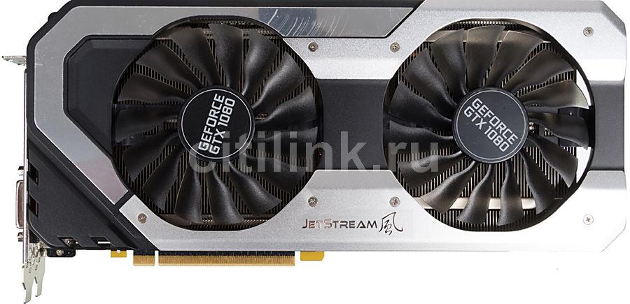 Видеокарта PALIT GeForce GTX 1080,  PA-GTX1080 Super Jetstream 8G,  8Гб, GDDR5X, Ret [neb1080s15p2-1040j]