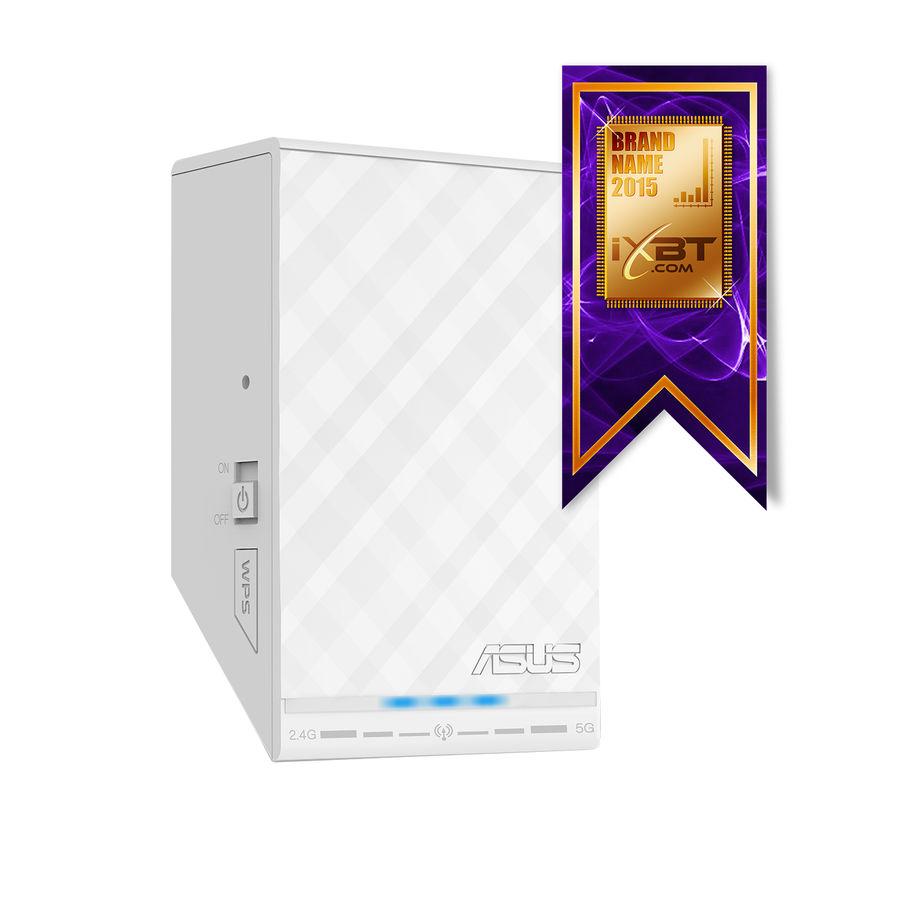 Повторитель беспроводного сигнала ASUS RP-N14,  белый