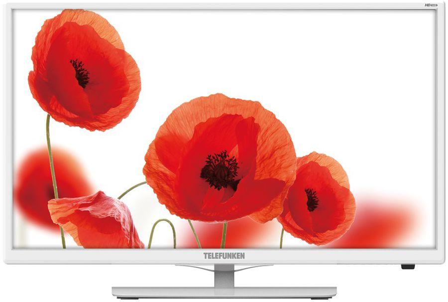 "Телевизор LED Telefunken 23.6"" TF-LED24S38T2 белый/HD READY/50Hz/DVB-T/DVB-T2/DVB- (отремонтированный)"