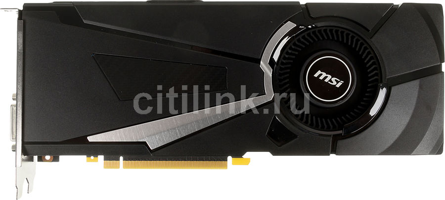 Видеокарта MSI nVidia  GeForce GTX 1080 ,  GeForce GTX 1080 AERO 8G OC,  8Гб, GDDR5X, OC,  Ret