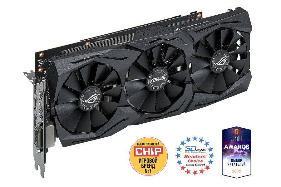 Видеокарта ASUS nVidia  GeForce GTX 1080 ,  STRIX-GTX1080-8G-GAMING,  8Гб, GDDR5X, Ret