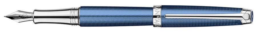 Ручка перьевая Carandache Leman (4799.158) Grand Blue SP F золото 18K с родиевым покрытием подар.кор