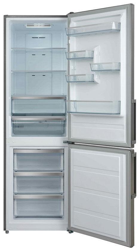 Холодильник SHIVAKI SHRF-300NFX,  двухкамерный,  нержавеющая сталь