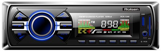 Автомагнитола ROLSEN RCR-126R,  USB,  SD/MMC