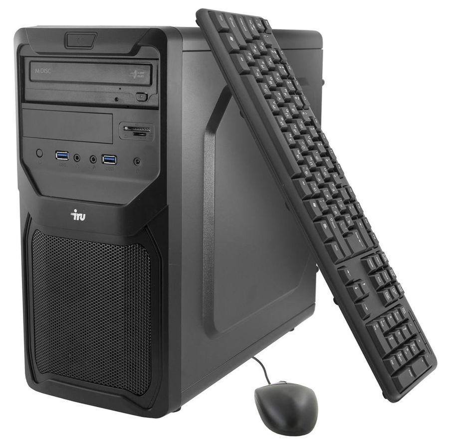Компьютер  IRU Office 311,  Intel  Core i3  4170,  DDR3 8Гб, 1Тб,  Intel HD Graphics 4400,  DVD-RW,  CR,  Windows 7 Professional,  черный [382915]