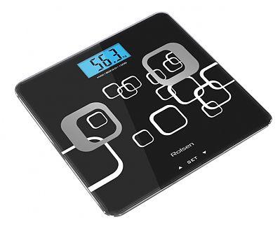 Напольные весы ROLSEN RSL1807, до 180кг, цвет: черный